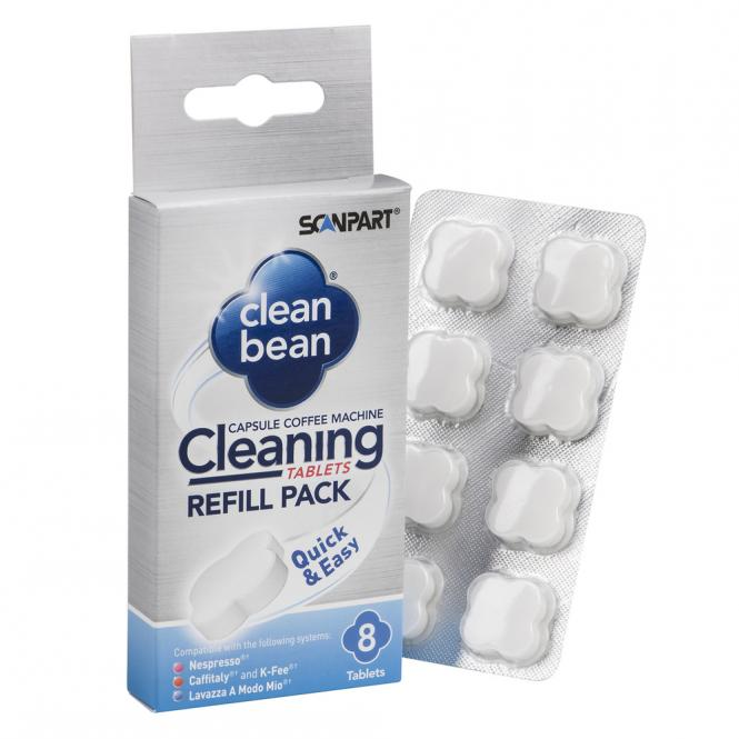 Scanparti kapselkohvimasinate puhastus tabletid (8 tk)