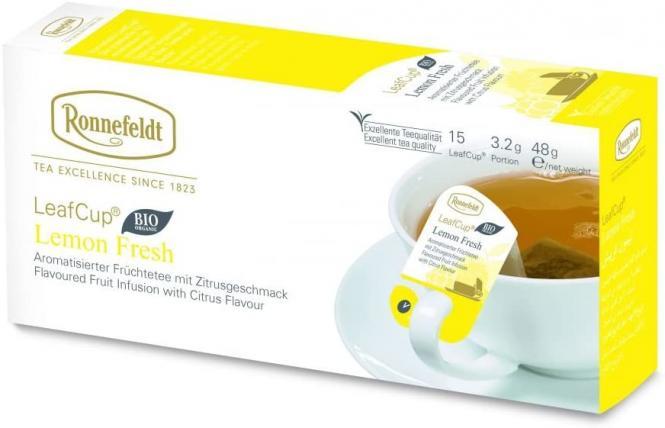 LeafCup® puuviljatee Lemon Fresh Bio 15 tk.