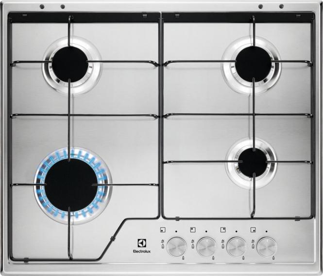 Paigaldatud on Electrolux KGS6424SX gaasipli..