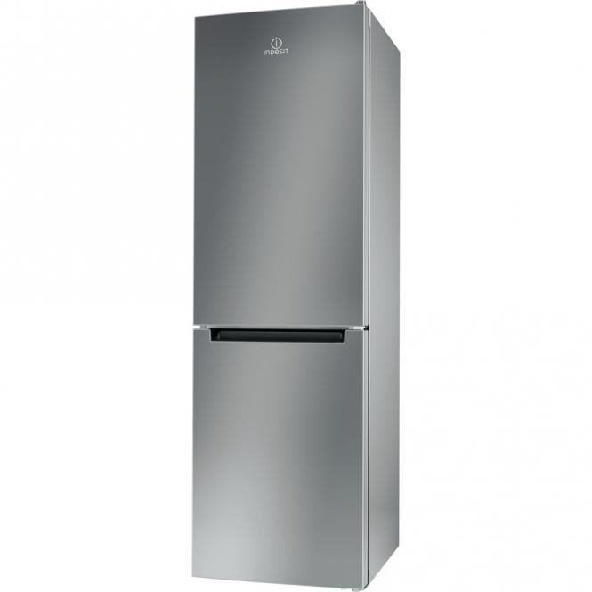 190 cm eraldiseisev hõbedane külmkapp koos..