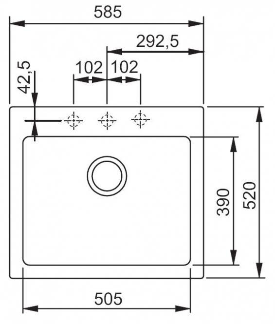 Valamu FRANKE MRG 610-58 grafiit, 114.0075.390